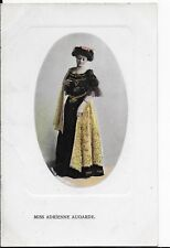 LOVELY VINTAGE PHILCO GREETINGS POSTCARD,MISS ADRIENNE AUGARDE,VICTORIAN ACTRESS