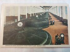 Vintage Postcard Generator Room Mississippi River Power Plant Keokuk Iowa