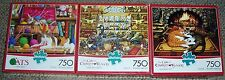 The CATS of Charles Wysocki Jigsaw Puzzle (3) 750 Piece PUZZLES!!!