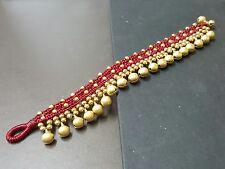 Jingling Belly Dance Red Brass Anklet,Brass Anklet,Red Anklet,Beads Anklet