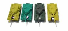4 Pc Army Military Tanks Play Set (3 Colors)
