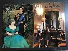The Royal Wedding Official Souvenir & 30 Years ERII Diana Charles Elizabeth II