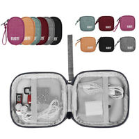 1PC USB Data Cable Holder Digital Storage Bag Earphone Wire Pouch Case Organizer