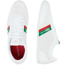 Lacoste Men Shoes Storda 0120 1 White Green Leather Casual Fashion Sneakers NEW