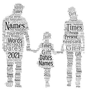 word art picture personalised gift present keepsake Family Birthday Mothers day