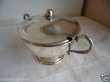 Genuine vintage Australian Silver sugar bowl with lid and handles