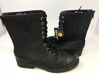 NEW! Joe Boxer Women's Alabama Lace Up Boots Black Med/Wide #30597 186KLM z