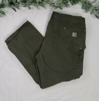 Carhartt Green Mens Work Wear Pants Size 46 x 32 Made in USA