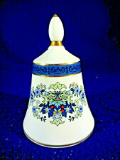 """Royal Doulton Blue And White Bell, Made In England For Danbury Mint 4 3/4"""""""