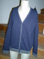 Sweat Jacke Pulli Pullover Langarm Gr. M blau grau man by Tchibo