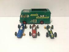 Matchbox Lesney K5 Racing Car Transporter + 3 Race Cars