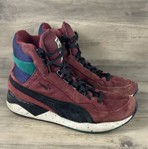 Puma Basketball High Tops Sneakers Men's Shoes Size 9 Leather Athletic