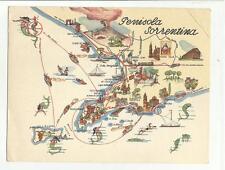 102841 vecchia cartolina penisola sorrentina