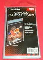 100 Ultra Pro Graded Card Sleeves with Resealable Lip Fits: PSA,Beckett +more