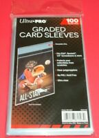 🔥 100 Ultra Pro Graded Card Sleeves with Resealable Lip Fits: PSA,Beckett +more