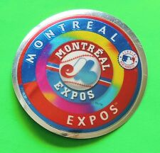 "Vintage Montreal Expos Sticker ""Genuine Merchandise"" Baseball 2-3/4"" Diameter"