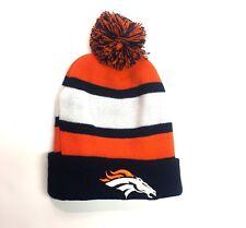 NFL Toque (Denver Broncos) Beanie Cuffed Hat Toque Blue  Free Shipping