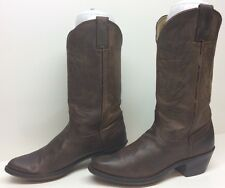 VTG WOMENS DURANGO COWBOY LEATHER BROWN BOOTS SIZE 6.5 M