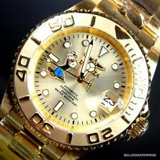 Invicta Pro Diver Popeye Gold Plated Steel Automatic 40mm Watch New + Case