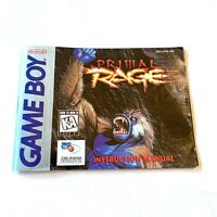 Primal Rage - Authentic - Nintendo Game Boy - Manual Only! NO GAME!