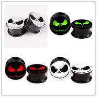 3 Colors 4mm-16mm Acrylic Flesh Tunnel Fix Ear Stretcher Expander Plug 2pcs