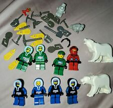 Lot of 8 Vintage LEGO Arctic Expedition Minifigures, 2 Polar Bears + Accessories