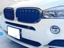 M Style Shiny Gloss Black Front Grille Grill For 2015-2017 BMW F15 F85 X5 X5M