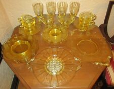 Lancaster Jubilee Topaz Yellow 26 Piece Luncheon Set c1930s