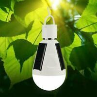 Wasserdichte LED Solar Glühbirne 7W E27 Zelt Camping Angeln Lampe wiederauf V9U3