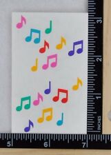 Mrs Grossman MINI MUSIC NOTES Stickers 1/2 Strip VINTAGE