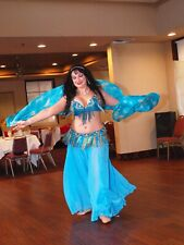 Turquoise & Gold Professional Bellydance Costume pre-owned
