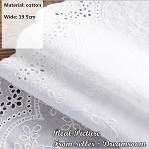1 Yard Embroidery Floral Lace Trim Ribbon Cotton Fabric Wedding Sewing DIY F288