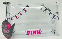 VICTORIA'S SECRET PINK CLEAR LIGHTS MAKEUP COSMETIC CASE BEAUTY BAG ORGANIZER