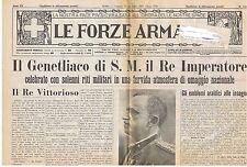 GIORNALE LE FORZE ARMATE N° 1300/1937  GENETLIACO DEL RE IMPERATORE