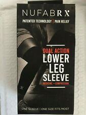 NUFABRX DUAL ACTION LOWER LEG SLEEVE ONE SIZE FITS MOST