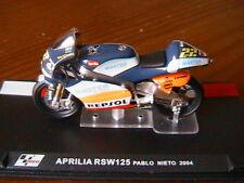 MOTO GP BIKE APRILIA RSW 125 #22 PABLO NIETO 2004 1/24 REPSOL MASTER RSW125