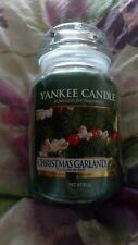 Yankee candle large jar. CHRISTMAS GARLAND.