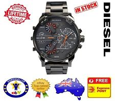 DIESEL DZ7315 MR DADDY 2.0 ALL Gunmetal Multiple Time Zone Chrono Mens Watch