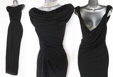 Karen Millen Black Starlet Drape Wedding Ballgown Cocktail Long Maxi Dress 14 UK