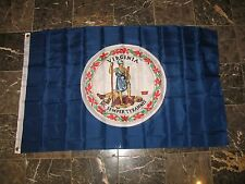 3x5 Virginia Double Sided 2ply sewn Nylon Flag 3'x5' house banner
