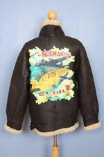 Vtg B-3 Normandy 1944 Sheepskin Shearling Leather Winter Flight Jacket Medium