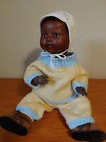 "ANTIQUE GERMAN AM 351 20"" DARLING BLACK BISQUE BABY DOLL"