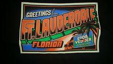 EDDIE VEDDER - Ft. Lauderdale FL T-Shirt Size XL - 11/30-12/1/12 Pearl Jam