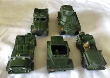 5 x Dinky Playworn Military Models