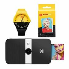 KODAK Smile Instant Print Digital Camera (Black/White) Watch Bundle