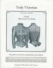 Schnittmuster Truly Victorian TV 463: 1884 French Vest Bodice