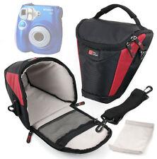 Black & Red Bag / Case with Strap for Polaroid P300, Z2300 & Sony NEX6 / Nex-6