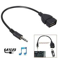 Audio AUX Jack 3.5mm Male to USB 2.0 Type A Female Converter Cable Adapter C8D8