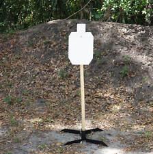 "SI Targets 2/3 IPSC Silhouette 3/8"" AR500 Steel Target hanger Hook Mount & Stand"