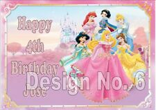 Disney Princesses PERSONALISED Birthday Card ANY NAME ANY MESSAGE SAME DAY POST
